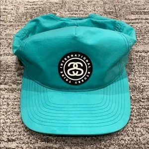 Stussy Nylon SnapBack Hat in Teal/Green - One Size